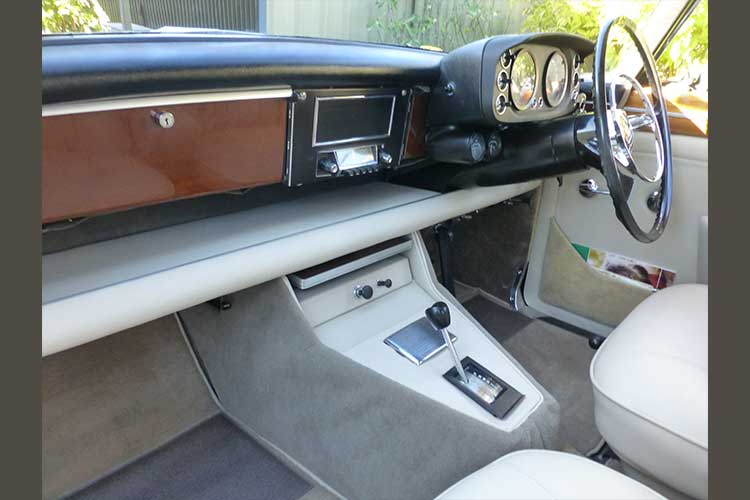 1970 Rover 3.5 Coupe reupholstered, Ben Mohr motor trimming