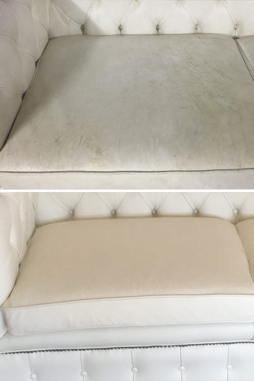 Chesterfield recolour before and after Mohr upholstery Adelaide