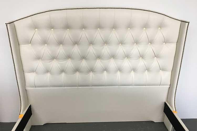 Custom built leather deep button bedhead