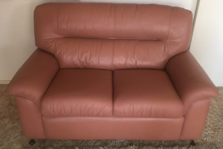 Leather lounge recolour Mohr upholstery Adelaide