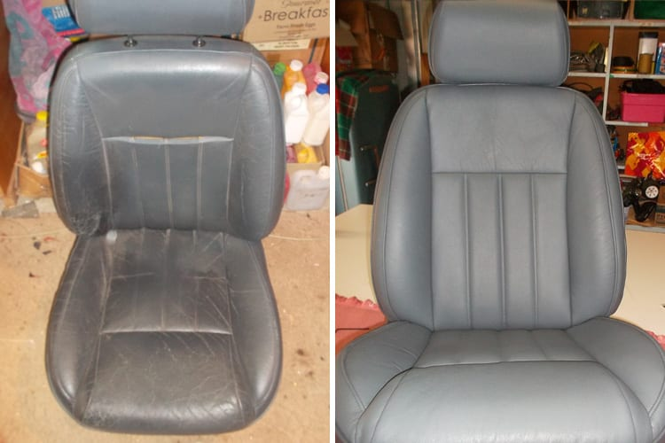Luxury car seat before and after, Motor Trimming Adelaide