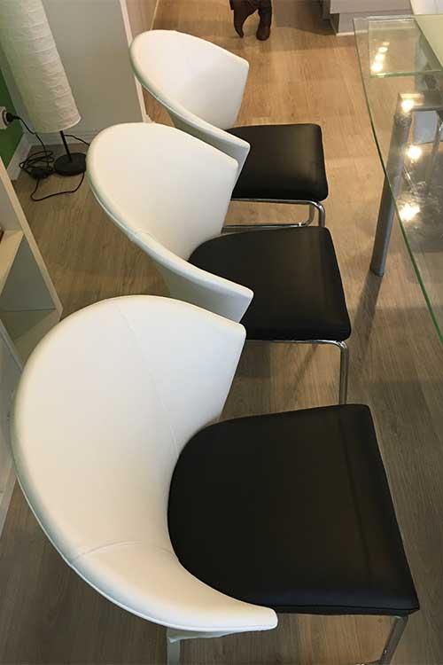 Modern chair upholstered